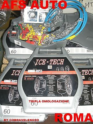 "Catene Da Neve""ice Tech"" 9mm Gr.4 225/45-13 Antimpigliamento Omol. Onorm Tuv Gs"