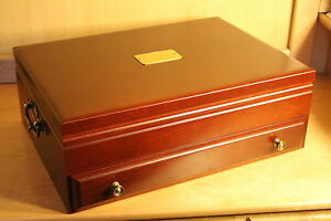 New Reed Amp Barton Wood Flatware Silverware Chest Sterling