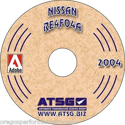 ATSG RE4FO4A Nissan Transmission Rebuild Manual RE4F04A Transaxle Service Book