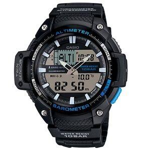 Casio-Watch-SGW450H-1A-Twin-Sensor-Black-amp-Blue-Resin-Men-COD-PayPal