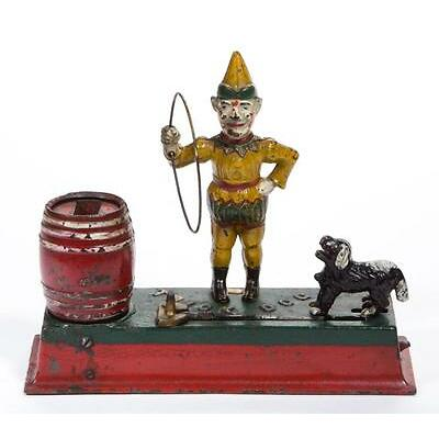 1004. TRICK DOG CAST-IRON MECHANICAL BANK Lot 1004