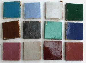 20-St-original-marokkanische-Zellige-Mosaikkacheln-Handarbeit-bunt-Mix-Basteln