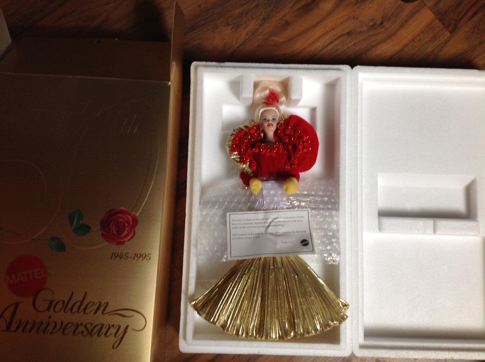 golden Anniversary Barbie-50th Anniv.Mattel-porcelain-1995-numbered  MIB NEW