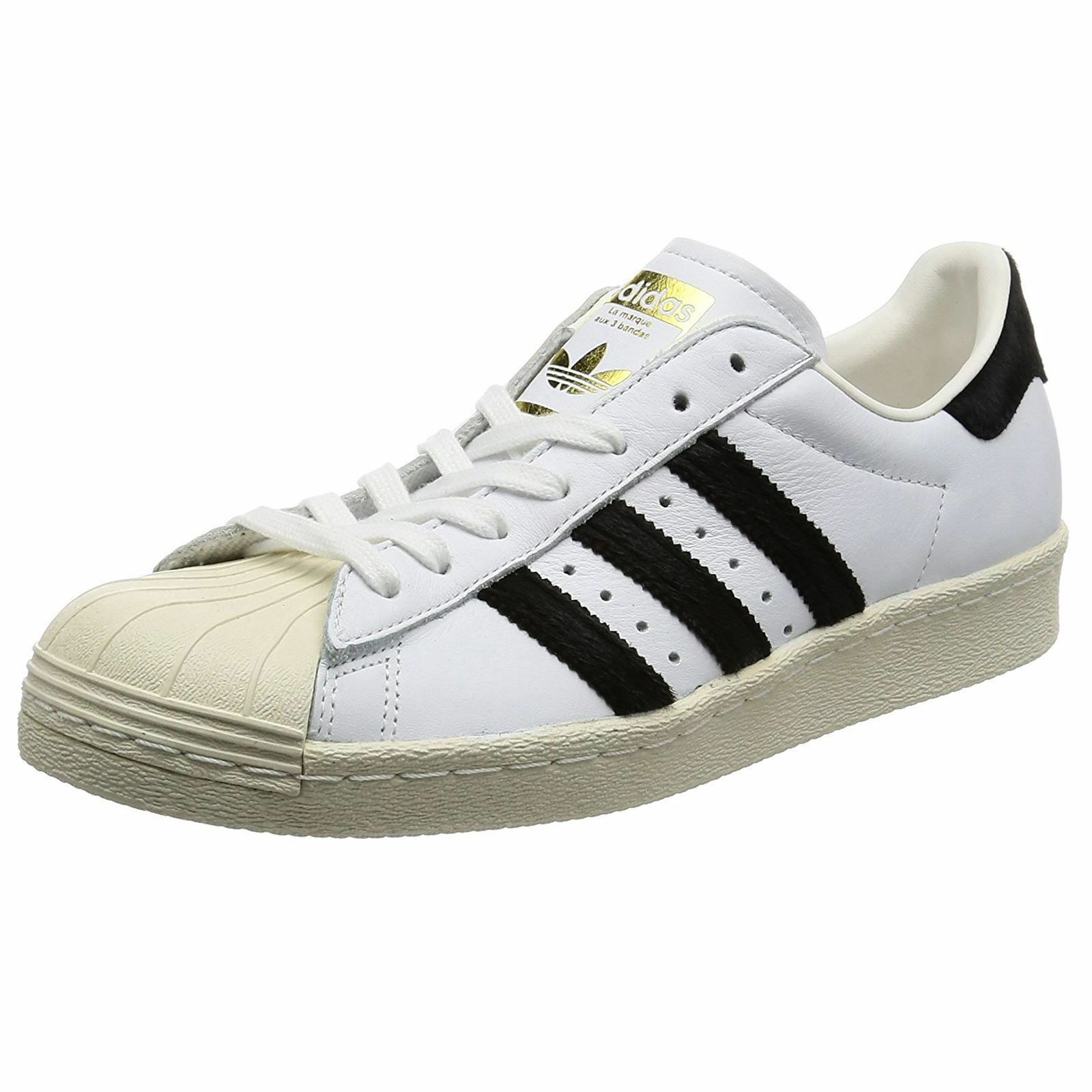 Adidas Superstar Black 80s Footwear White Core Black Superstar Mens Leather Sneakers Trainers 1cdeb3