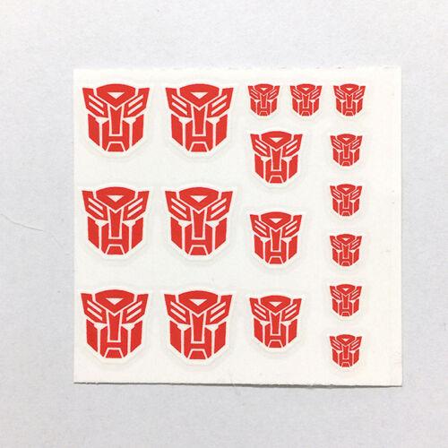 3PCS//SET Stickers on Figure Clear Transformers G1 Autobots Symbol Sticker Decal