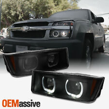 Fit 02 06 Chevy Avalanche Upgrade U Halo Rim Projector Headlight Smoke Housing Fits More Than One Vehicle