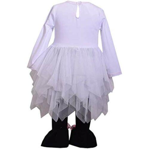 White Black $40 Bonnie Jean Girls Halloween Mummy Tutu /& Legging 2 Pc Set NWT