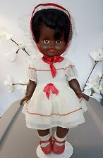 "Vintage 1960s Dee an Cee 16"" Little Girl Spring Dress Black AA Baby Doll Canada"
