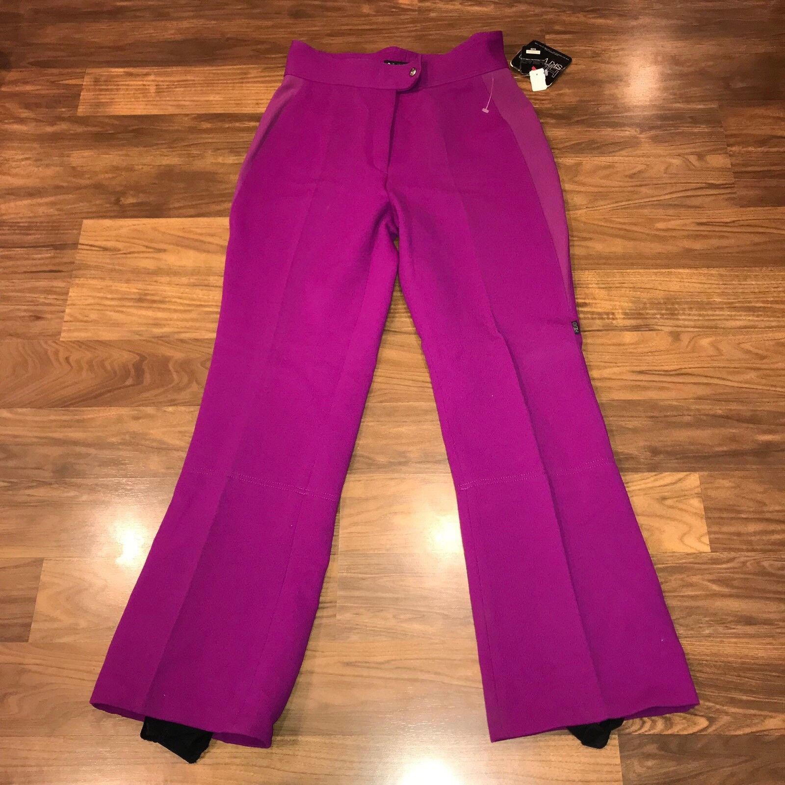 NEW Vtg 80s 90s  Magenta Purple HEAD SKI Bunny Womens 12 Apres Snow bib pants NOS  brand