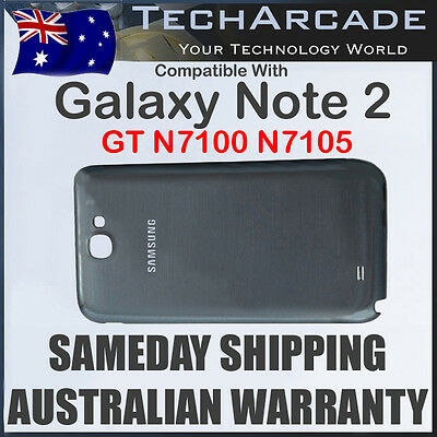 Samsung Galaxy Note 2 GT N7100 N7105 Back Rear Housing Battery Cover Case Grey