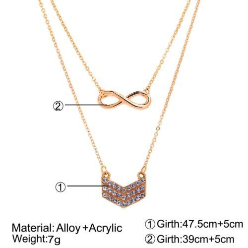 Women Multilayer Chain Choker Shell Cross Tree Moon Pendant Necklace Jewelry