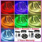 5M 10M 15M RGB 3528 5050 SMD Waterproof 300 LED Strip Light Flexible Multi Color