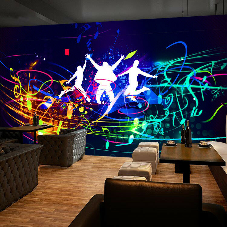 3D Graffiti  Music 4 Wallpaper Murals Wall Print Wallpaper Mural AJ WALLPAPER UK