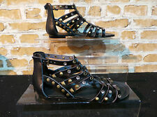 Ladies ALDO BRIGIDA Black Stud Diamante Gladiator Sandals UK 5 EURO 38 RRP £50