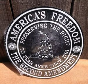 Preserving-Freedom-Second-Round-Metal-Sign-Vintage-Garage-Bar-Wall-Decor-Rustic