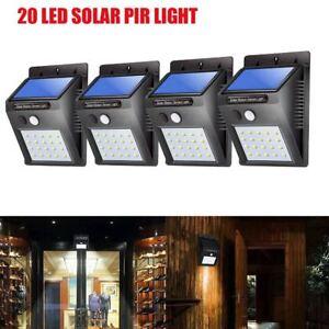 Solaire-Puissance-LED-Lumiere-PIR-Capteur-de-mouvement-Jardin-Applique-Nuit-Lamp