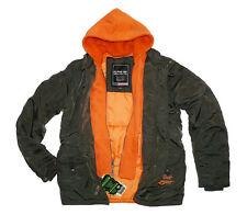 Alpha Industries Cobbs III Hooded Jacket Winterjacke Parka Gr. M rep-grey