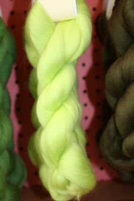 Merino Wool Top Roving Citron 1 oz