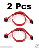 """2 Pcs 18"""" Serial SATA ATA RAID DATA HDD Hard Drive Cable Straight to Right Angle"""