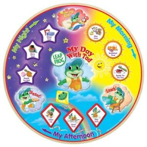 LeapFrog-My-Day-With-Tad-12pc-Raised-Wooden-Magnetic-Puzzle-Grow-w-Me-Feature
