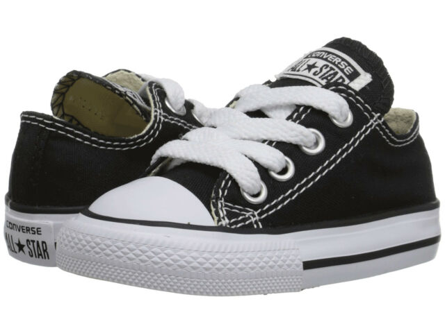 da4e3f14bcca NEW INFANT TODDLER CONVERSE ALL STAR OX CHUCK TAYLOR BLACK WHITE 7J235 SO  CUTE