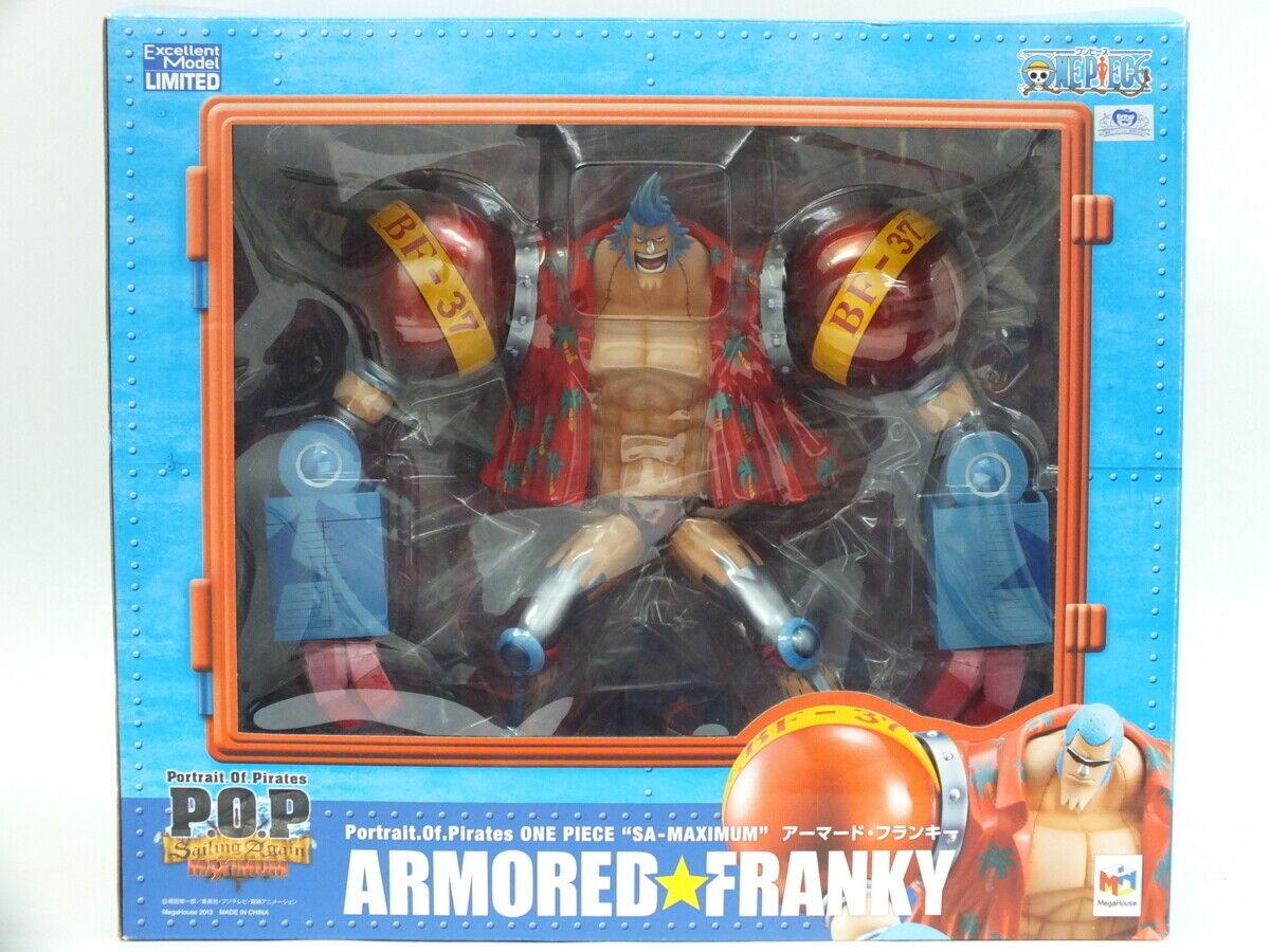 Megahouse Figure Portrait Of Pirates P.O.P ONE PIECE SA‐MAXIMUM Armored Franky