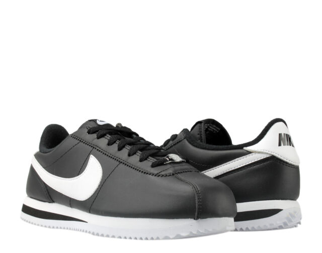 buy online 0e343 e609e Nike Cortez Basic Leather Black/White-Silver Men's Running Shoes 819719-012