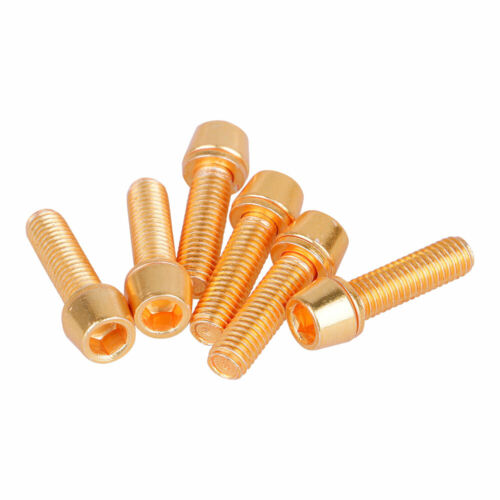 6pcs Bicycle Stem Bolts M5 Stainless Steel Bolt For MTB Screw With Washers Set