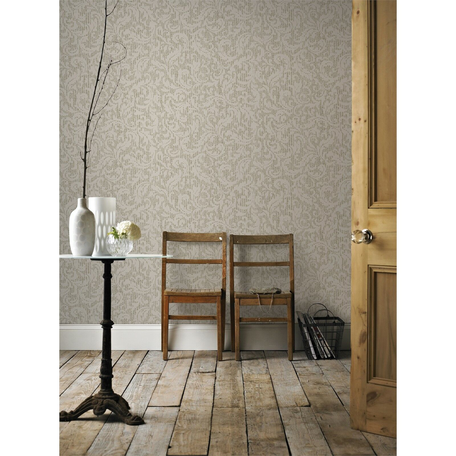 Boutique NW CASHMERE CREAM gold WALLPAPER 52cmx10m Extra Washable UK Made