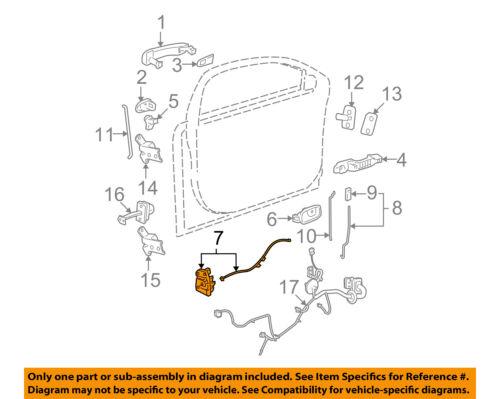 LATCH WITH ACTUATOR  NEW GM 22865521 2008-2012 MALIBU DRIVER FRONT DOOR LOCK