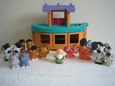 FISHER PRICE NOAH'S NOAH ARK BOAT ANIMALS LITTLE PEOPLE TOUCH N FEEL