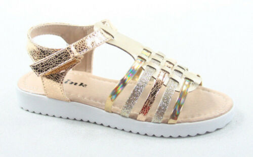 Forever Link Youth Girl/'s Gladiator Strappy Low Flat Heel Sandal Shoes Size 9-4