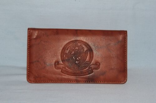 United States Navy  USN   Leather Checkbook  NEW   brown