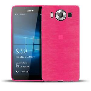 Schutz-Huelle-fuer-Microsoft-Lumia-950-Silikon-Case-Handy-Tasche-Cover-Bumper
