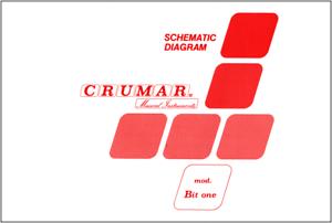 CRUMAR BIT ONE - Service Manual Schematic Diagrams Schema elettrico Schaltplan
