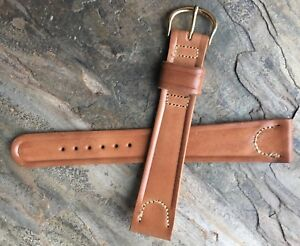 Long-Length-vintage-tan-19mm-Shell-Cordovan-watch-strap-1950s-New-Old-Stock