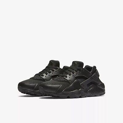 190439f7e674ff 654275-016 Big Kids Nike Huarache Run (GS) Black Black Sizes 4-7 New ...