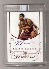 TRISTAN THOMPSON 12/13 Flawless 15/16 insert auto rookie #22 serial #1/2