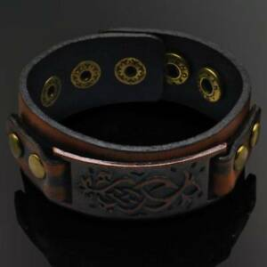 Punk-Cool-Men-Womens-Wid-Leather-Belt-Bracelet-Cuff-Wristband-Bangle