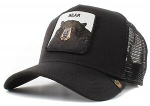 d29941d8 Goorin Bros. Animal Farm Trucker Snapback Hat Cap Black Grizzly Bear ...