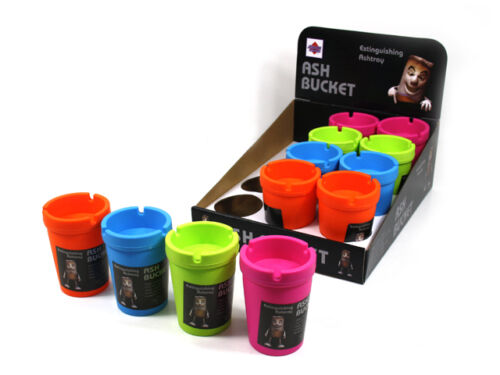 4-x-coloured-Butt-Bucket-Ash-Trays-11-8-CM-Good-value-fast-free-shipping