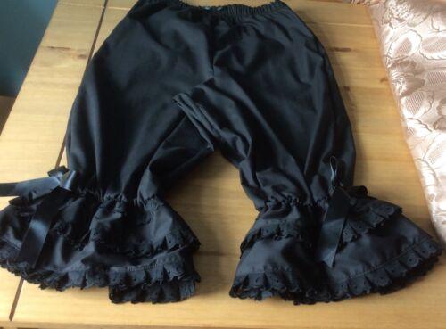 Ladies black cotton bloomers