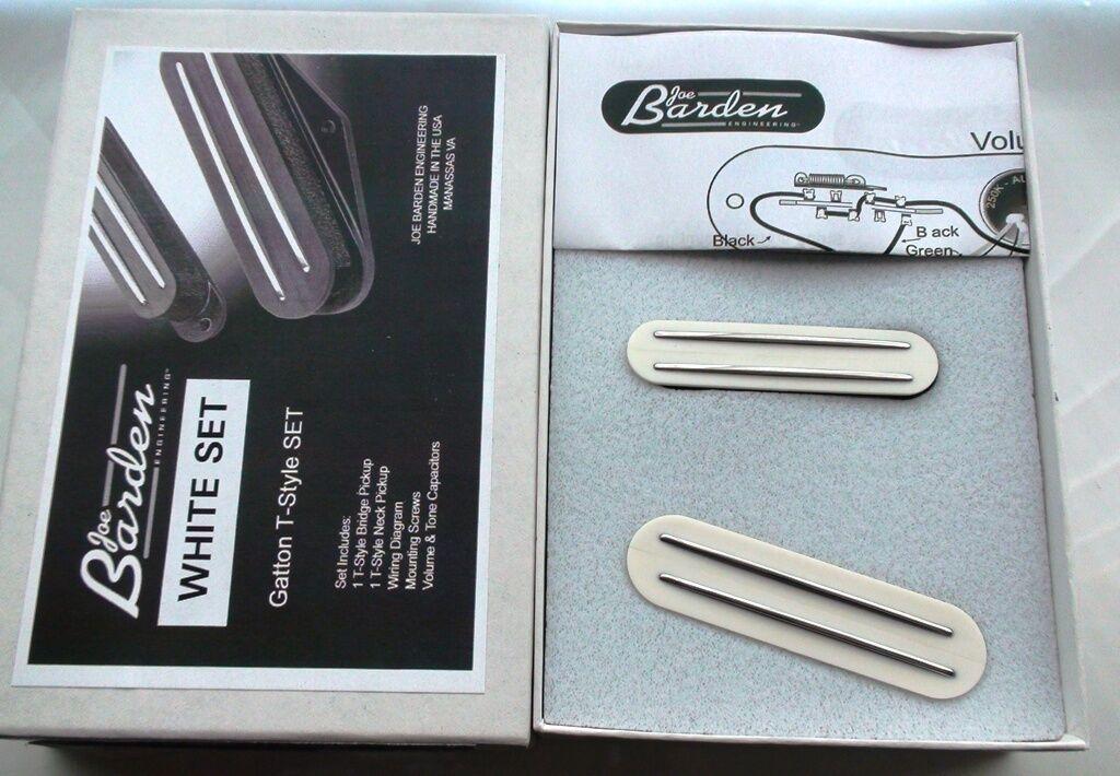 Weiß JBE Pickups Danny Gatton Barden T-Style Telecaster TELE PICKUP SET USA