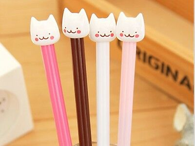 2PCS Fashion Korean Cute Smile Cat Cartoon Pen Neutral Pen Student Award GEL