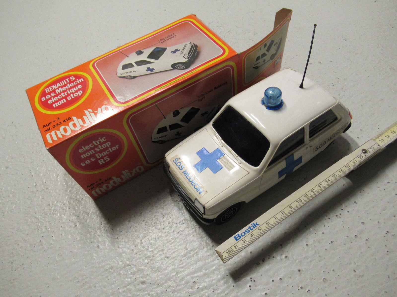 Modulixo Renault 5 S.O.S. MEDECIN Doctor's car Arzt-Notfalldienst 225 mm long    Verrückter Preis