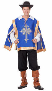 4-Part-Men-039-s-Musketeer-Costume-Knight-Medieval-Uniform-Carnival-Laundry-Bags