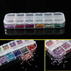 12 Colors Round Mixed Nail Art Rhinestone Gems 2mm w/ Box Manicure Hot