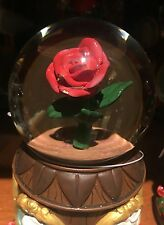 Beauty and the Beast Musical Magic Rose Snow Globe Disney Parks