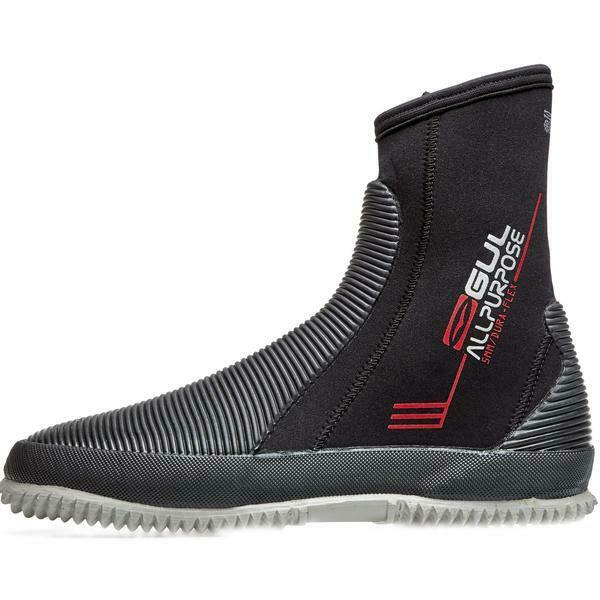 GUL 5mm All Purpose Neoprene Wetsuit Boots Shoes - Black - Unisex