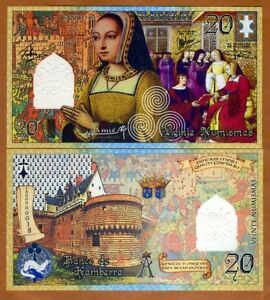 20 Numismas UNC /> Anne of Brittany only 50 issued 2014 SPECIMEN Kamberra